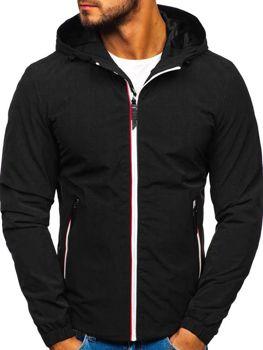 Чоловіча демісезонна куртка чорна Bolf 5683