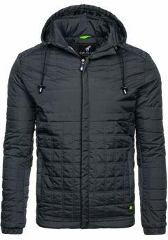 Чоловіча демісезонна куртка чорна Bolf m503