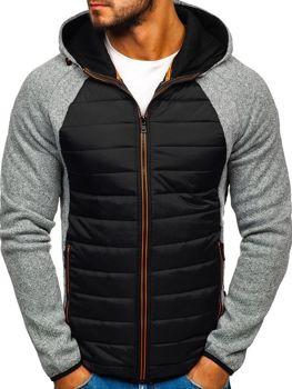Чоловіча демісезонна спортивна куртка сіра Bolf KS1917