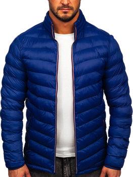Чоловіча демісезонна спортивна куртка темно-синя Bolf SM71