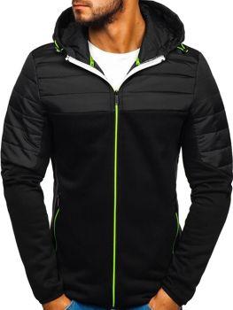 Чоловіча демісезонна спортивна куртка чорна Bolf KS1887