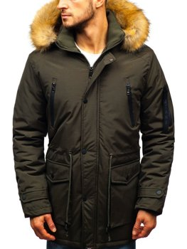 Чоловіча зимова куртка парка хакі Bolf R102