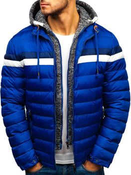 Чоловіча зимова куртка синя Bolf A181 2ce6af5aaa48f