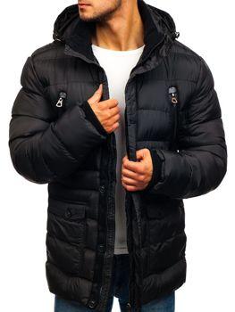 Чоловіча зимова куртка чорна Bolf 48884