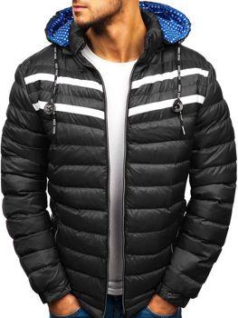 Чоловіча зимова куртка чорна Bolf A211