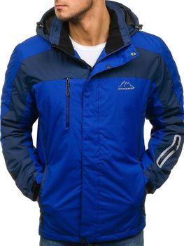 Чоловіча зимова лижна куртка синя Bolf F806