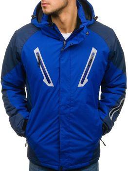 Чоловіча зимова лижна куртка синя Bolf F809