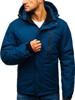 Чоловіча зимова лижна куртка темно-синя Bolf HZ8107