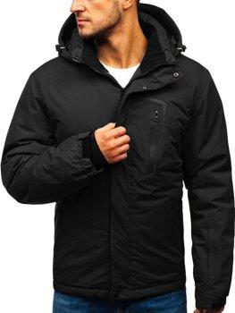 Чоловіча зимова лижна куртка чорна Bolf HZ8107