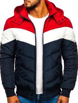 Чоловіча зимова спортивна куртка темно-синя Bolf Jk398