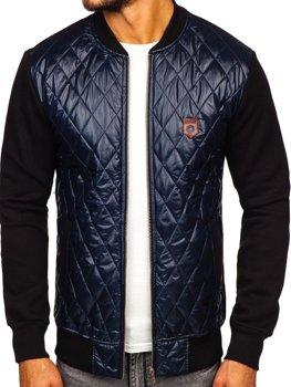 Чоловіча куртка-бомбер темно-синя Bolf 2569-2