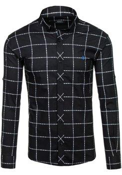 Чорна сорочка чоловіча в узори з довгим рукавом Bolf 1589 ЧОРНИЙ 38477d454368f