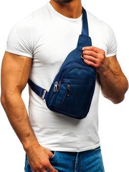 Чоловіча сумка через плече темно-синя Bolf T50
