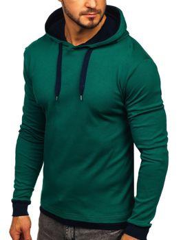 Чоловіча толстовка з капюшоном зелена Bolf 145380
