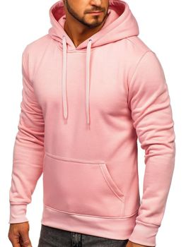 Чоловіча толстовка з капюшоном світло-рожева Bolf 2009