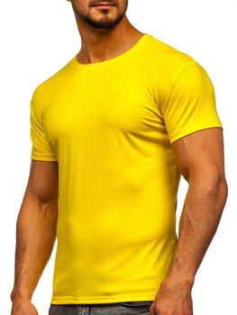 Чоловіча футболка без принта жовто-неонова Bolf 2005