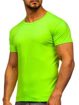 Чоловіча футболка без принта салатова Bolf 2005