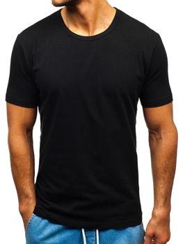 Чоловіча футболка без принта чорна Bolf T1280