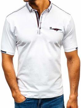Чоловіча футболка поло біла Bolf 192034