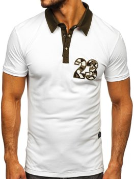 Чоловіча футболка поло біла Bolf 2058