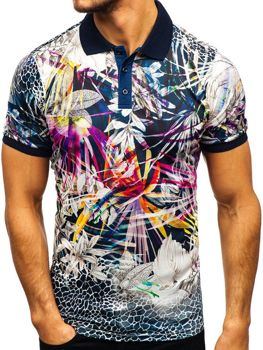 Чоловіча футболка поло мультиколор Bolf 9015 3ced082a78b07