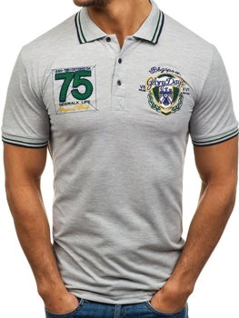Чоловіча футболка поло сіра Bolf 0605