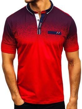 Чоловіча футболка поло червона Bolf 6599