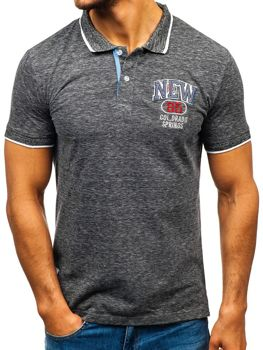 Чоловіча футболка поло чорна Bolf 19240
