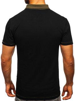 Чоловіча футболка поло чорна Bolf 2058
