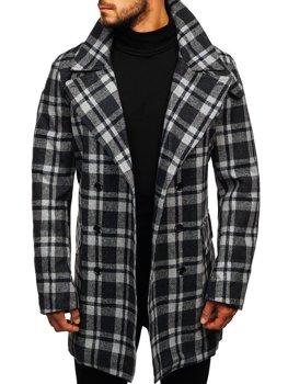 Чоловіче зимове пальто сіре Bolf 1115