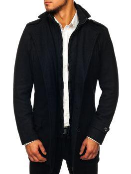 Чоловіче пальто зимове чорне Bolf NZ02 5b51d3e561e8e