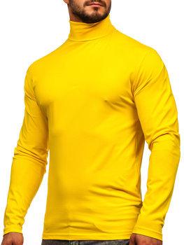 Чоловічий гольф без принта жовтий Bolf S6963