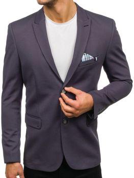 Чоловічий елегантний піджак графітовий Bolf192