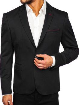 Чоловічий елегантний піджак чорний Bolf RBR406