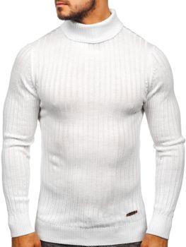Чоловічий светр гольф білий Bolf 3070