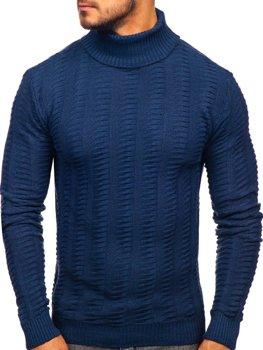 Чоловічий светр гольф синій Bolf 314
