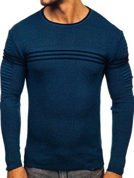 Чоловічий светр синій Bolf 0001