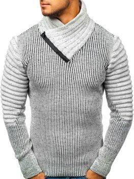 Чоловічий светр сіро-чорний Bolf 20002