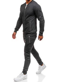Чоловічий спортивний костюм антрацитовий Bolf 43S
