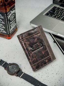 Чоловічий шкіряний гаманець коричневий 3163