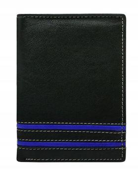 Чоловічий шкіряний гаманець синій 599