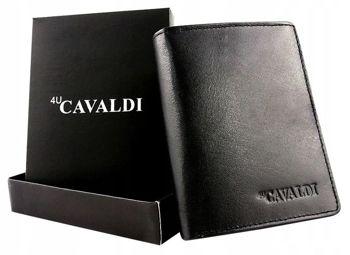 Чоловічий шкіряний гаманець чорний 613