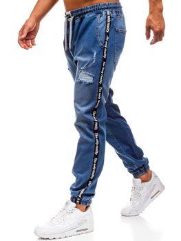 Чоловічі джинсові штани багі сині Bolf 2045