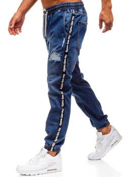 Чоловічі джинсові штани багі темно-сині Bolf 2045
