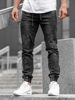 Чоловічі джинсові штани джоггери чорні Bolf KA1082