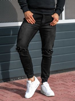 Чоловічі джинсові штани джогери антрацитові Bolf 2044-1 027112c70efb0
