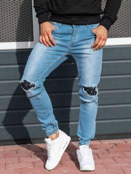 Чоловічі джинсові штани джогери світло-сині Bolf 2044-1
