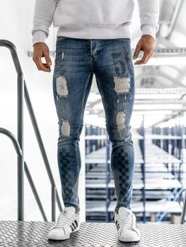 Чоловічі джинсові штани темно-сині Bolf 1062