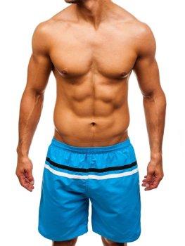 Чоловічі пляжні шорти світло-сині Bolf Y765