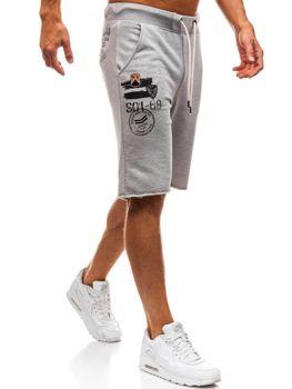 Чоловічі спортивні шорти сірі Bolf A9601